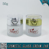 50ml Frosted Cosmetic Glass Jar Empty Face Cream Glass Jars
