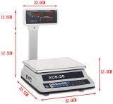 Double Side Display with Pole Electronic Platform Price Computing Scale
