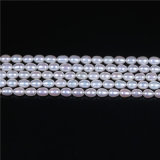 High Quality Rice Egg Shape White Freshwater Pearl Strand Wholesale