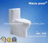 Hot Sale Siphonic One-Piece Water Closet Toilet Bowl (705)