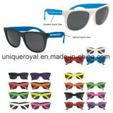 Rubberized Sunglasses with Neon Temples