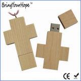 Wood Cross Design Jesus USB Memory Drive (XH-USB-100W)