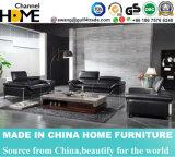 Modern Living Room Black Genuine Leather 1+2+3 Sofa (HC259)