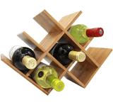 8 Bottles Wooden Wine Rack Wine Shelving for Home