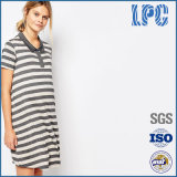 Short Sleeve Pregnant Woman Stripe Dress