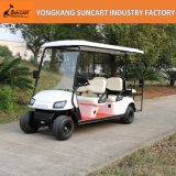 4+2 Seater Golf Cart, Ce Approved, 6 Seater Golf Car with Rear Flip Seater