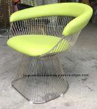 Metal Leisure Restaurant Cushion Furniture Outdoor Steel Wire Chair