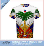 Fashion Men Sports T-Shirt with Sublimation Printing Pattern