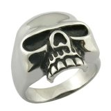 Pure Metal Skull Head Ring Jewelry
