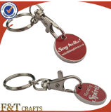 Custom Two Side Red Color PRO Enamel Metal Trolley Coin Made Trolley Coin for Singapore
