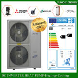 Amb. -25c Air Temp. Aut-Defrost 12kw/19kw/35kw/70kw by 55c Hot Water Evi Heat Pump System for House and Floor Heating