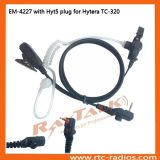 Two-Wire Acoustic Tube Earphone with Microphone for Tc-320 Radio