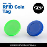 Hf 13.56MHz White PVC RFID Coin Tag for Access Control