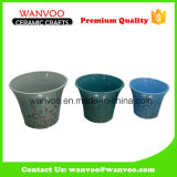 China Cheap Traditional Ceramic Flower Pot for Garden Decoration