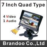4 Channel Quad 7 Inch Car Monitor