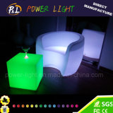 PE Material Rechargeable Colorful LED Sofa Furniture