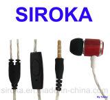 Waterproof Stereo MP3 Earphone with Acacia Wood