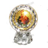 Decorative Orthodox Crystal Icon - Religious Crystal Statue