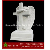 Marble Carving Memorial Angel Statue Tombstone
