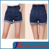 Women Blue Cufled Jeans Fashion Short Pants (JC6102)