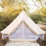 One Single Pole PRO 5m Bell Tent Made of 360 GSM Cotton Canvas