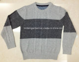 100% Cotton Boy Sweater in Round Neck Long Sleeve (16-329)