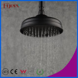 Fyeer European Style 8 Inch Round Black Rainfall Shower Head