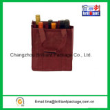 Non Woven Wine Bottle Bag with Hook & Loop Attachment