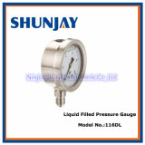 All Ss Liquid Filled Bottom Welding Pressure Gauge