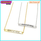 Fashion Factory Sale Silver Custom Bar Name Necklace