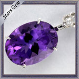 Top Quality Whole Sale Oval 6X8mm Natual Amethyst for Jewelry