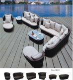 Modern Design Alum Wicker Multi-Function Sofa Outdoor Rattan Furniture