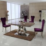 Modern Design Marble Top Stainless Steel Leg Dining Table