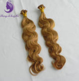 #27 Body Wavy Blonde Color Remy Human Flat Tip Hair Extension