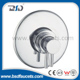 Round Plate Concealed Brass Shower Room Eco-Friendly Thermostatic Shower Valve