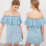 New Colection Ladies Falbala Mini Dress with Detachable Gallus