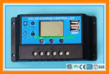 12V/24V 20A PWM LCD Solar Controller with 2 USB