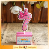 Handmade Creative Decoration Harmless Cute Novel Candles (Pink Number)