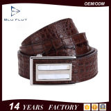 Fashion Custom Brand Designer Genuine Crocodile Leather Buckle Men Belt