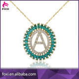 Fashion Letter Pendant with CZ Pave Setting