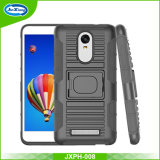 High Protective 3 in 1 Robot Ring Armor Holster Case for Redmi Note 3 with Kickstand Belt Clip