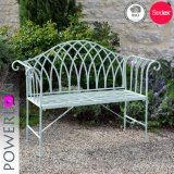 2 Seater Antique White Wroght Iron Garden Bench