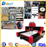 Double Heads Heavy Duty CNC Stone Router Engraving Machine