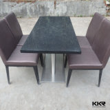 Kingkonree Black Acrylic Stone Restaurant Tables and Chairs
