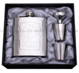 OEM Stainless Steel Cup Hip Flask Set for Business Gift