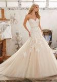 2017 A-Line Train Bridal Wedding Gown Wm1701