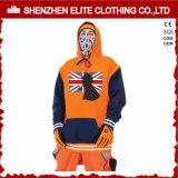 Wholesale Organic Stylish Orange Black Men Customize Hoodie Sweatshirts (ELTHSJ-982)