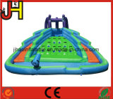 Water Park Equipment Inflatable Double Water Slide Lane with Climbing