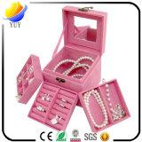 Luxury Leather Classic Jewelry Box with Mirror