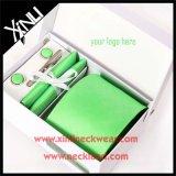 Handmade 100% Silk Woven Mint Green Tie Set for Men